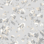 ANDOVER WILLOW, TOSSED FLORAL, GREY (9611-C) PER CM OR $20/M