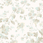 ANDOVER WILLOW, TOSSED FLORAL, NEUTRAL (9611-T) PER CM OR $20/M