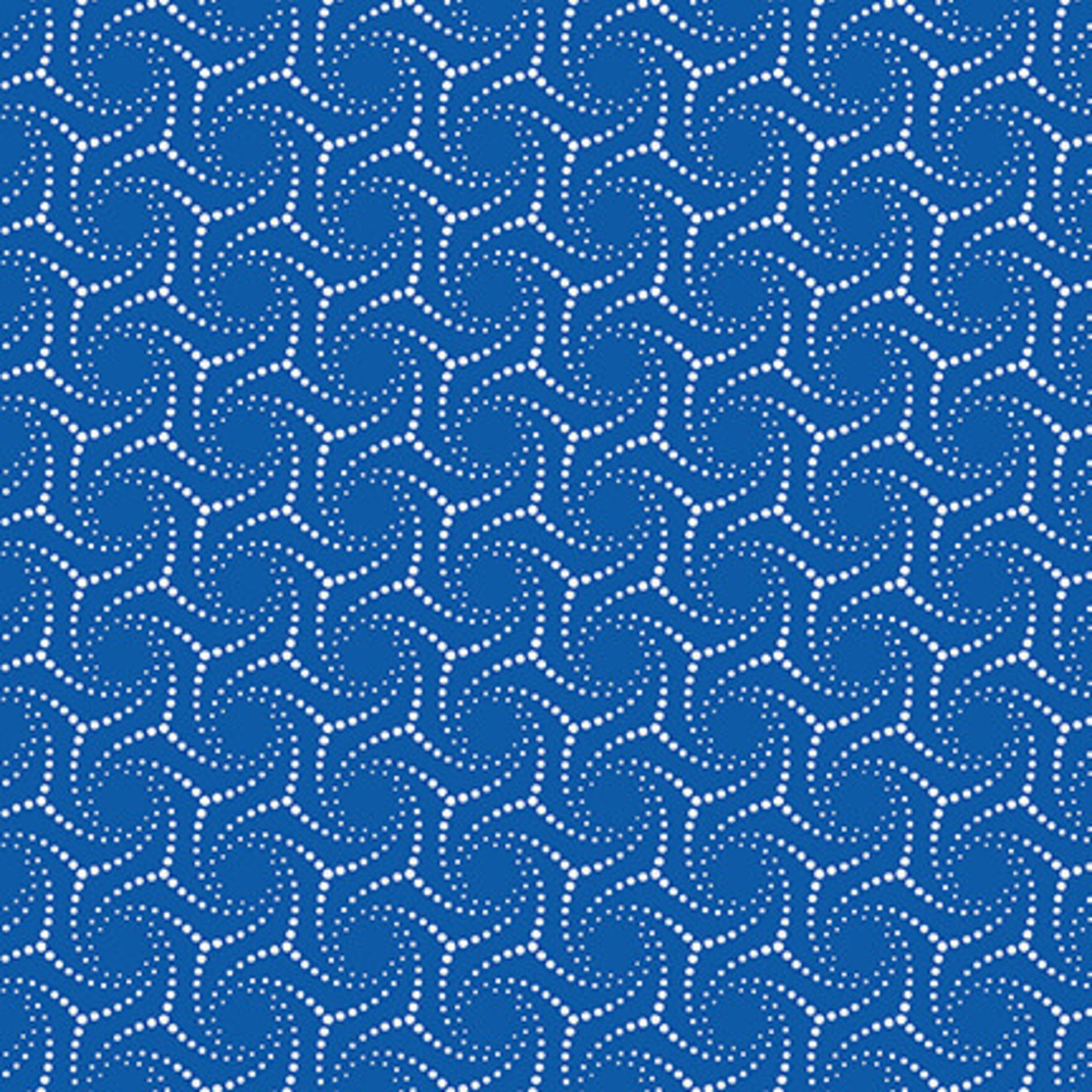 Blank Quilting Corp BLUE BAYOU, DOTTED SWIRL, NAVY (1142-77) PER CM OR $19/M