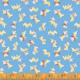 WINDHAM FABRICS STORYBOOK, PUPPIES, BLUE (51980-2) PER CM OR $20/M