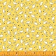 WINDHAM FABRICS STORYBOOK, BABY RABBITS,  YELLOW (51981-4) PER CM OR $20/M