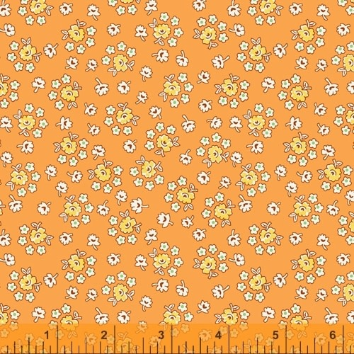 WINDHAM FABRICS STORYBOOK, BOUQUET, ORANGE (51982-7) PER CM OR $20/M