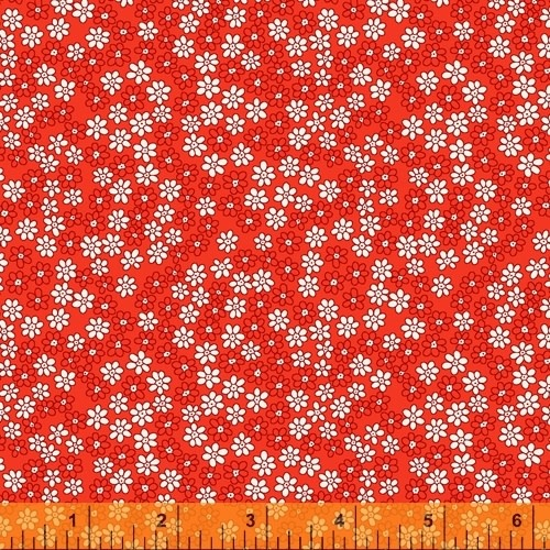 WINDHAM FABRICS STORYBOOK, DAISIES, RED (51983-1) PER CM OR $20/M