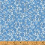 WINDHAM FABRICS STORYBOOK, DAISIES, BLUE (51983-2) PER CM OR $20/M