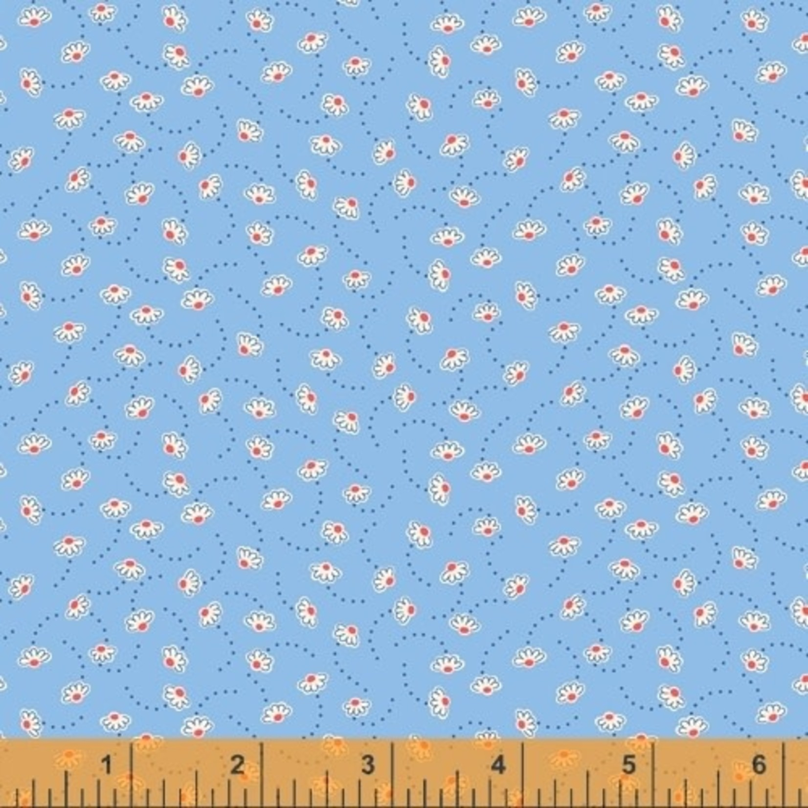 WINDHAM FABRICS STORYBOOK, BOUNCING FLOWERS, BLUE (51984-2) PER CM OR $20/M