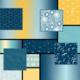 MAYWOOD MOONGATE - BLUE & YELLOW FAT 1/4 BUNDLE - 13 PCS