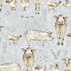 QUILTING TREASURES FARM LIFE, FARM ANIMAL, LIGHT GREY (27677-K) PER CM OR $20/M