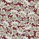 QUILTING TREASURES FARM LIFE, DAISIES, BRICK RED (27679-R) PER CM OR $20/M