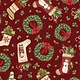 WILMINGTON PRINTS EVERGREEN FARM, HOLIDAY TOSS, RED (39647-373)PER CM OR $20M