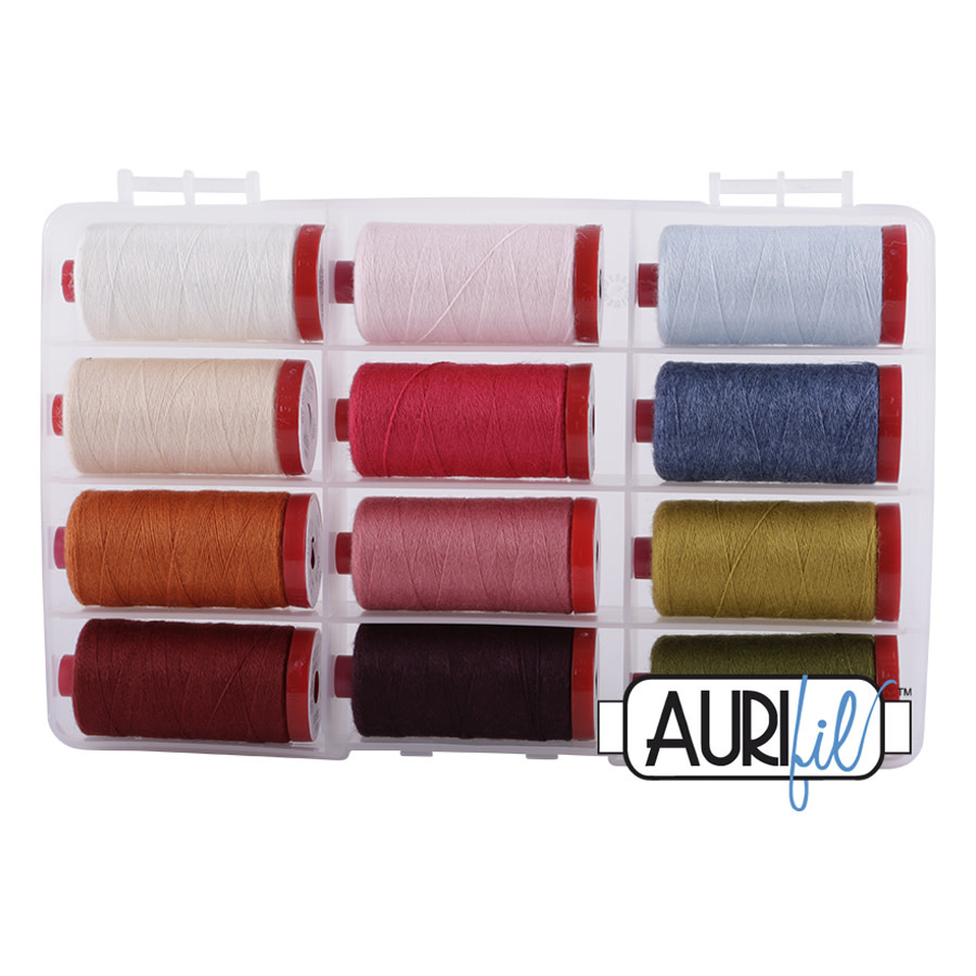 AURUFIL  WOOL COLLECTION 12WT 12 COLOURS