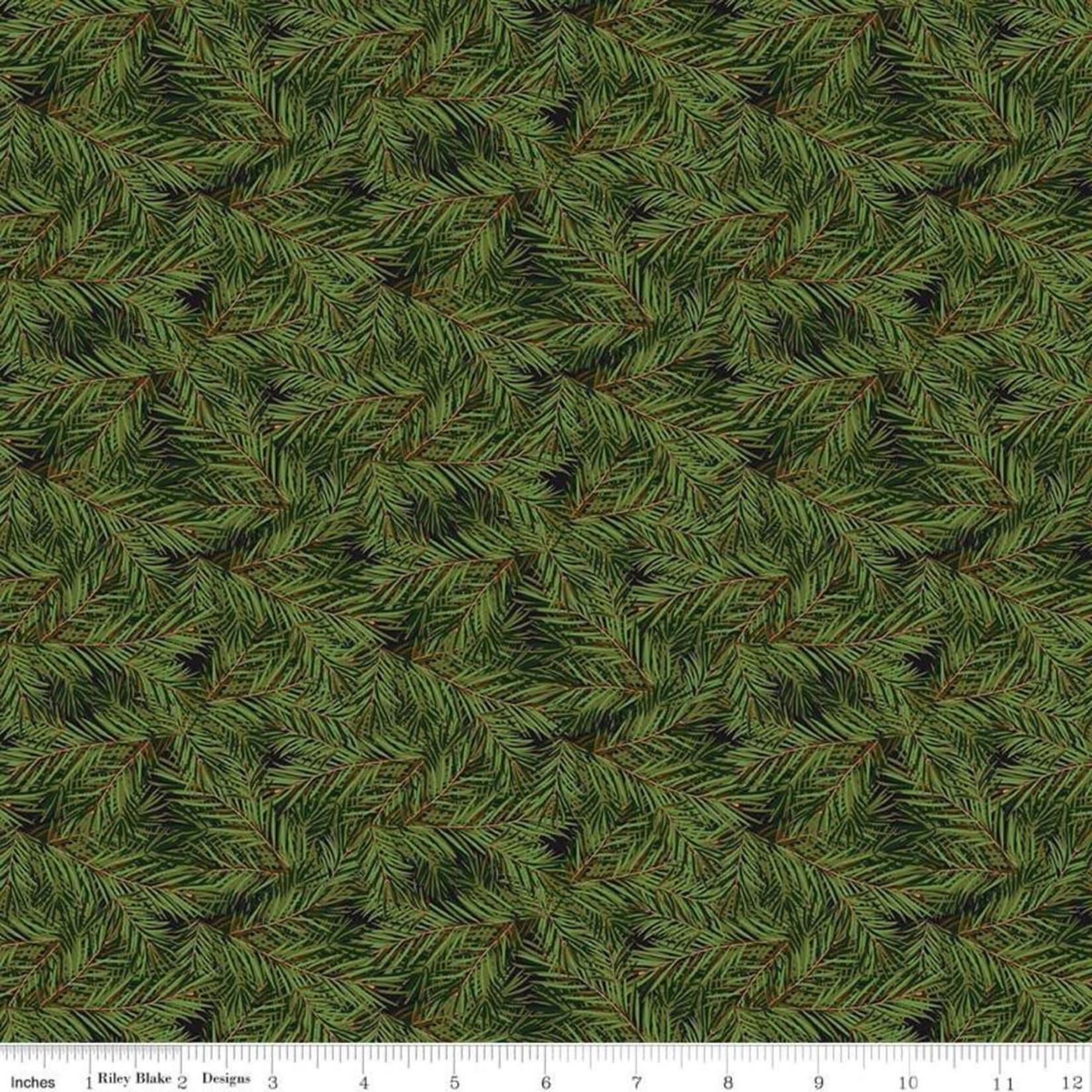Riley Blake Designs CHRISTMAS MEMORIES, DARK GREEN $0.20 PER CM OR $20M