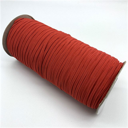 """1/8"""" COTTON WRAPPED ELASTIC 1=1m  - RED"""