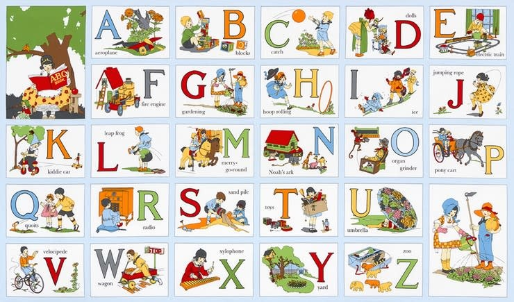RILEY BLAKE DESIGNS MY ABC BOOK, VINTAGE PANEL