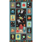 Makower UK Outer Space - Panel 24 x 44 -  PER CM OR $19/M