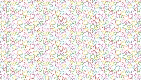 Makower UK DayDream - Hearts on White -  PER CM OR $19/M