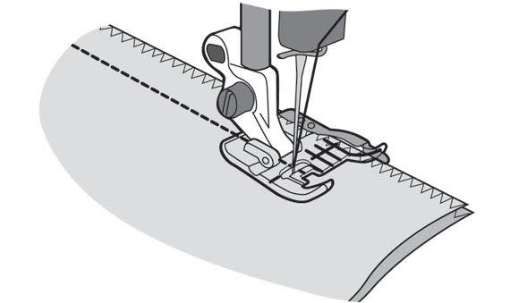 HUSQVARNA VIKING CLEAR SEAM GUIDE FOOT HV BLISTER GRP 9 with IDF