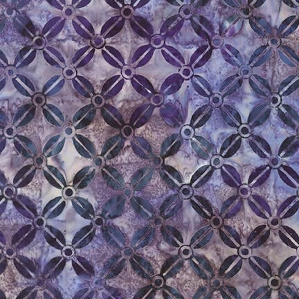 ROBERT KAUFMAN LUNN STUDIOS BATIKS, MODERN TWIST - BEAN GRID - PURPLE 19755-6 PER CM OR $20/M