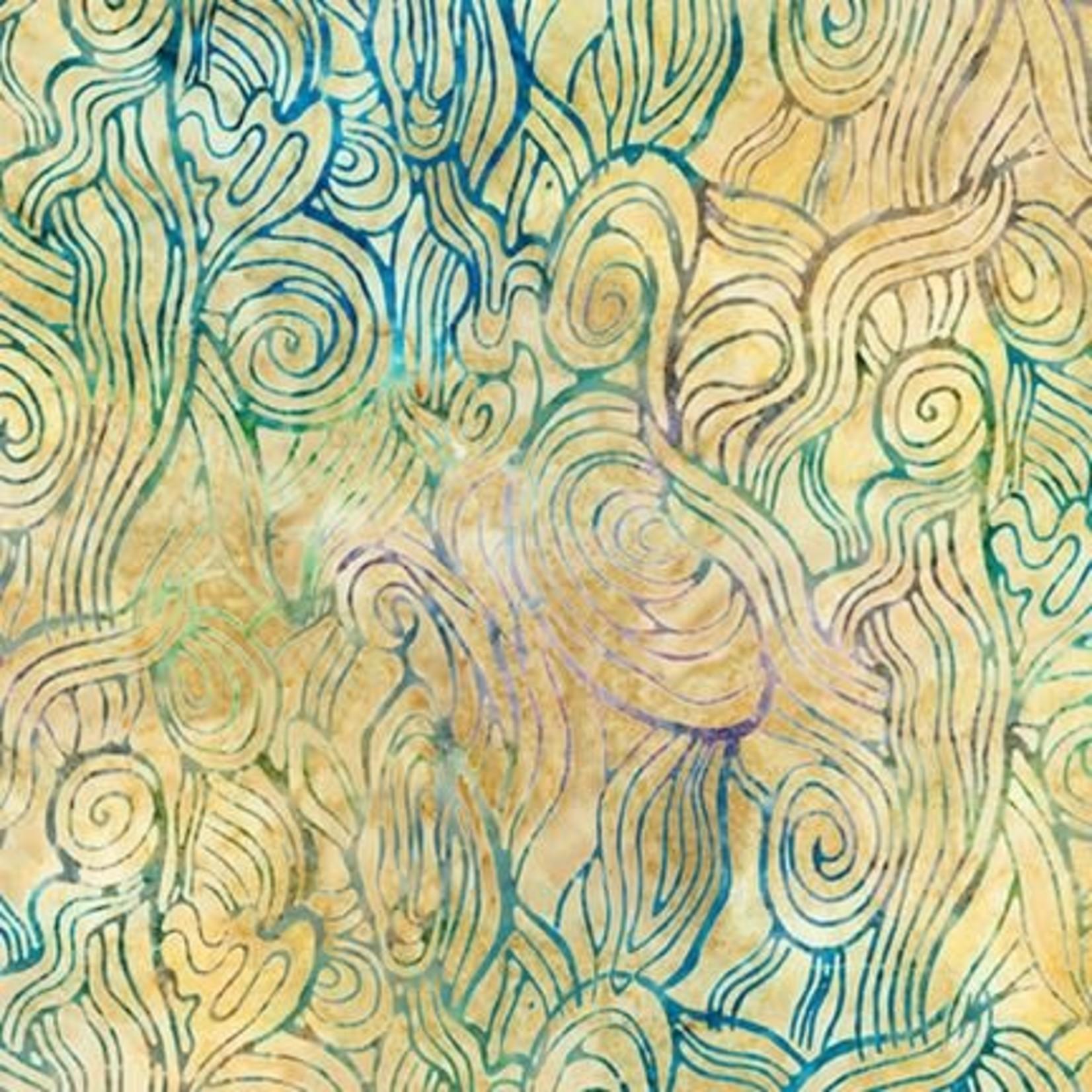 Robert Kaufman LUNN STUDIOS BATIKS, DAYBREAK - SWIRLS - NATURAL 19892-14 PER CM OR $20/M