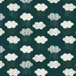 Dashwood Midnight Garden, Clouds on Blue LINEN/COTTON