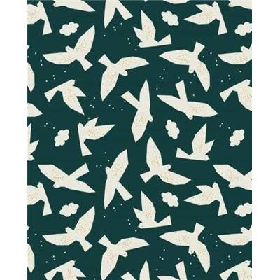 DASHWOOD Midnight Garden, Doves on Blue LINEN/COTTON