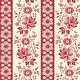 LAUNDRY BASKET QUILTS SWEET 16, FLORAL STRIPE, RED (A-9578-R) PER CM or $20/m