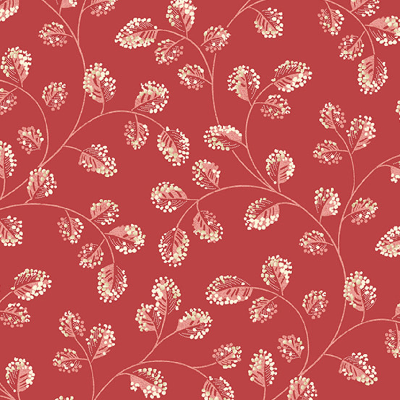 Laundry Basket Quilts SWEET 16, COTTON, RED (A-9581-R) PER CM or $20/m
