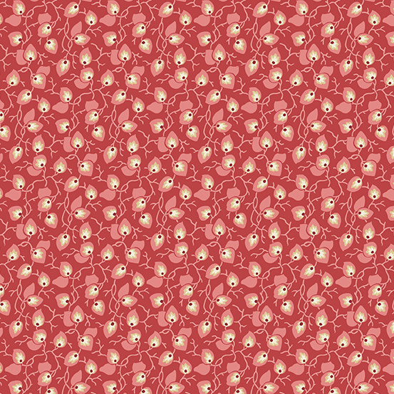 LAUNDRY BASKET QUILTS SWEET 16, VINE, RED (A-9582-R) PER CM or $20/m