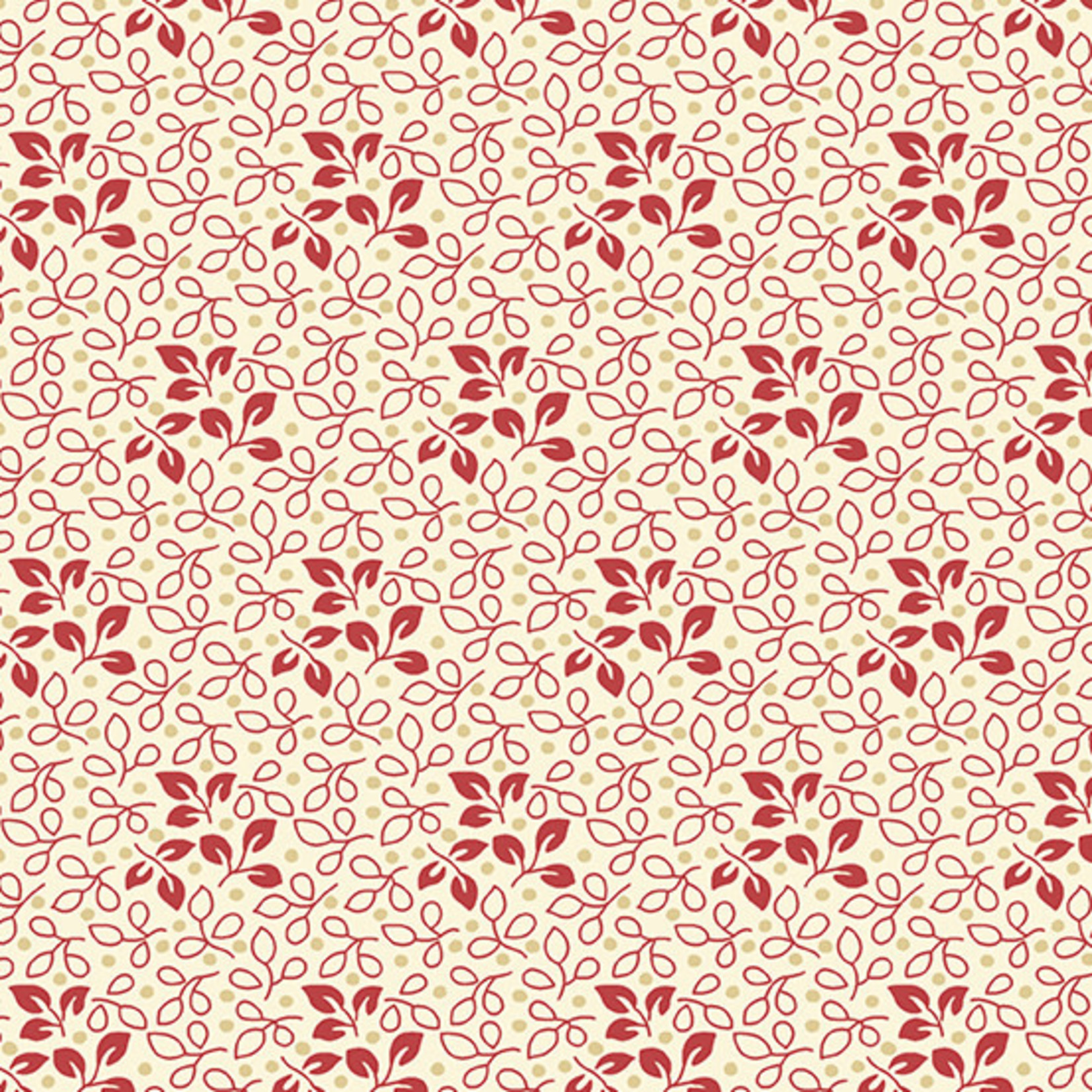 Laundry Basket Quilts SWEET 16, LEAF, RED (A-9585-R) PER CM or $20/m