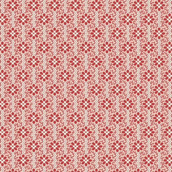 LAUNDRY BASKET QUILTS SWEET 16, WOVEN, RED (A-9588-R) PER CM or $20/m
