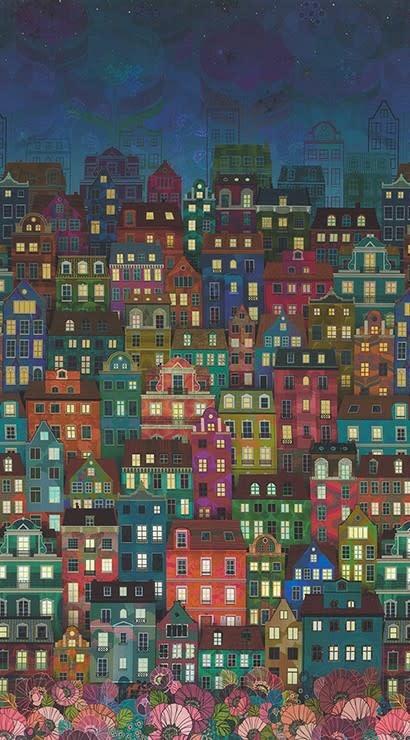 ROBERT KAUFMAN HAPPY PLACE, CITYSCAPE, NIGHT $0.20/CM OR $20/M