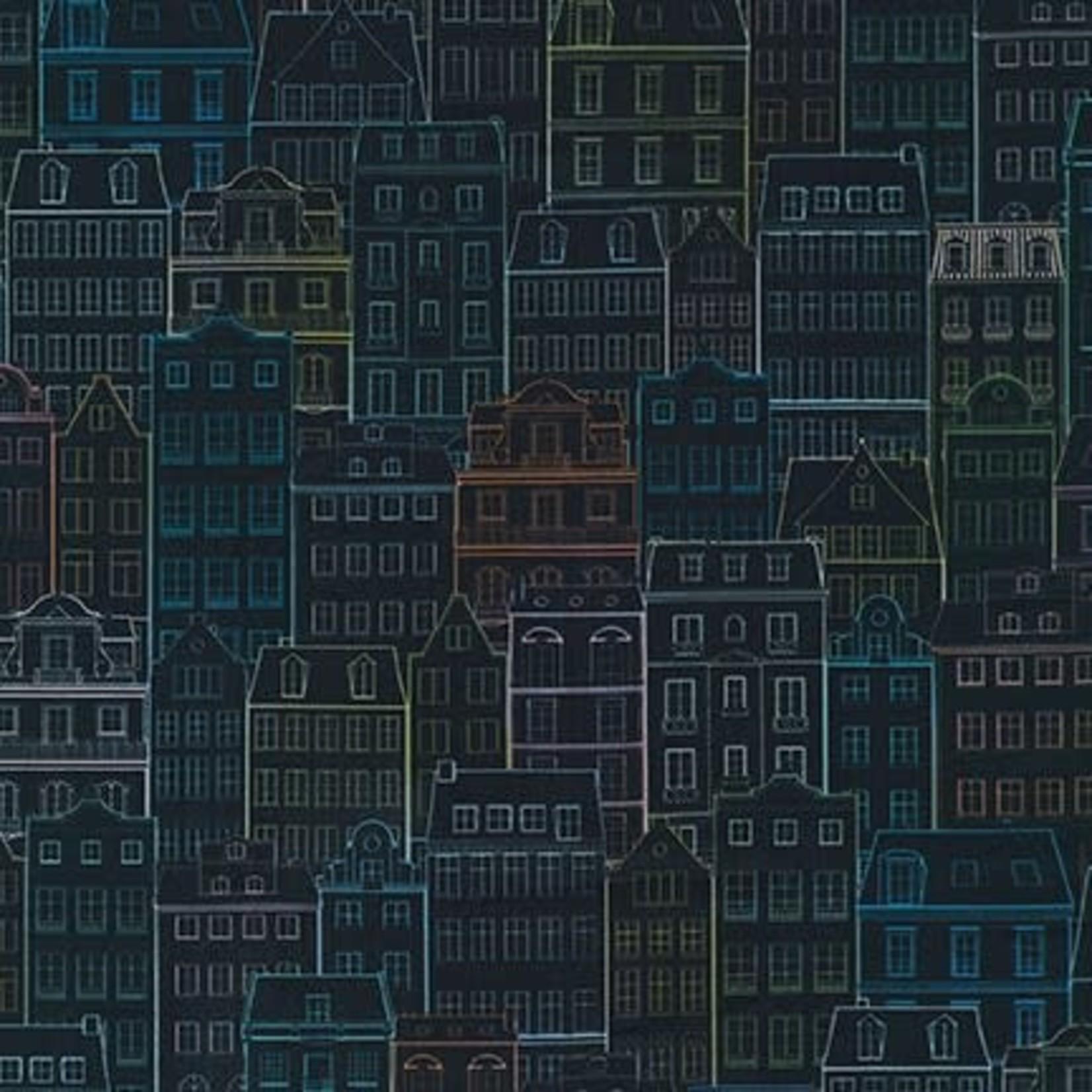 ROBERT KAUFMAN HAPPY PLACE, BUILDINGS, NIGHT $0.20/CM OR $20/M