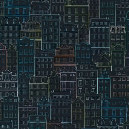ROBERT KAUFMAN HAPPY PLACE, BUILDINGS, NIGHT $0.20/CM OR $20/M