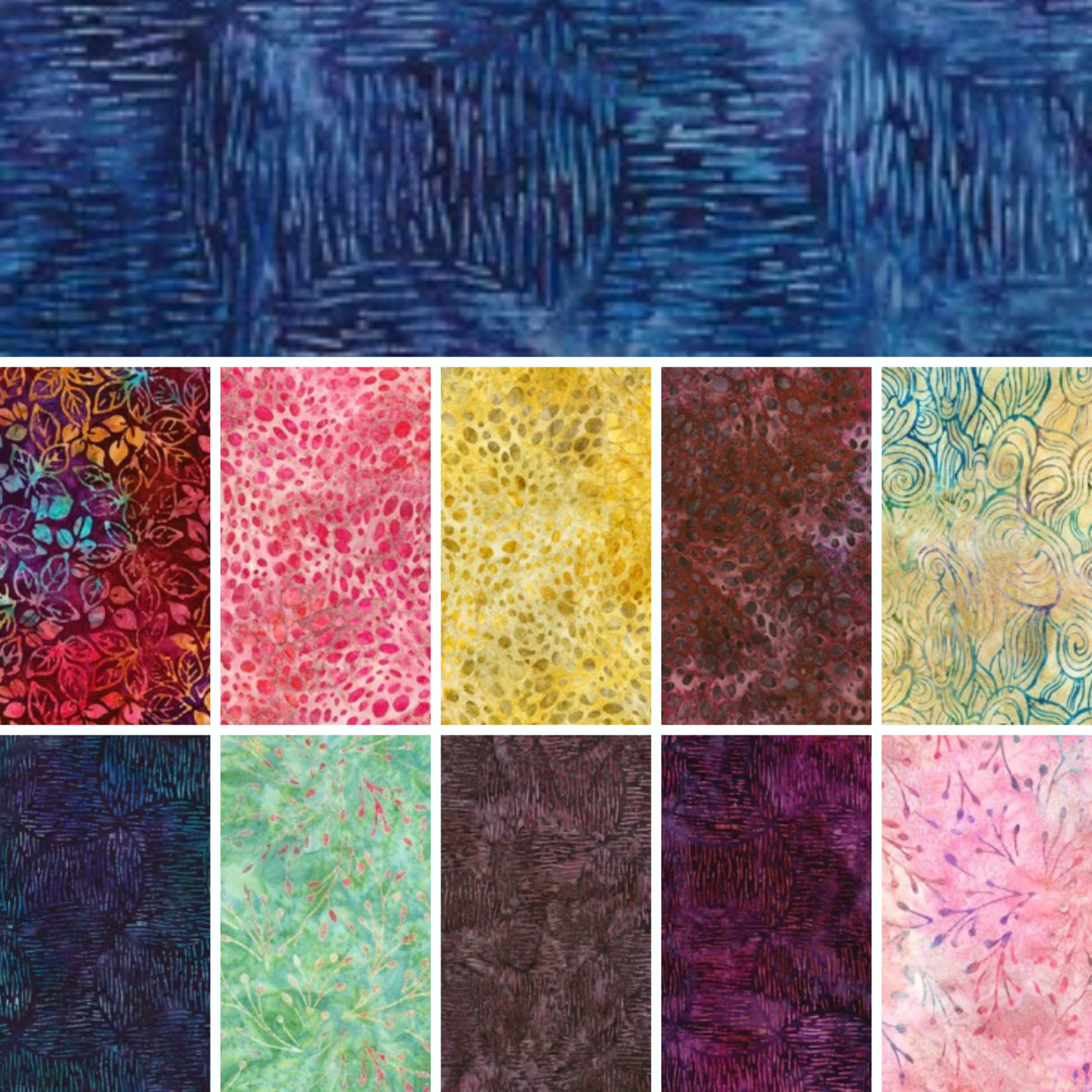 ROBERT KAUFMAN DAYBREAK BATIK COLLECTION - FAT 1/8 BUNDLE - 22 PCS
