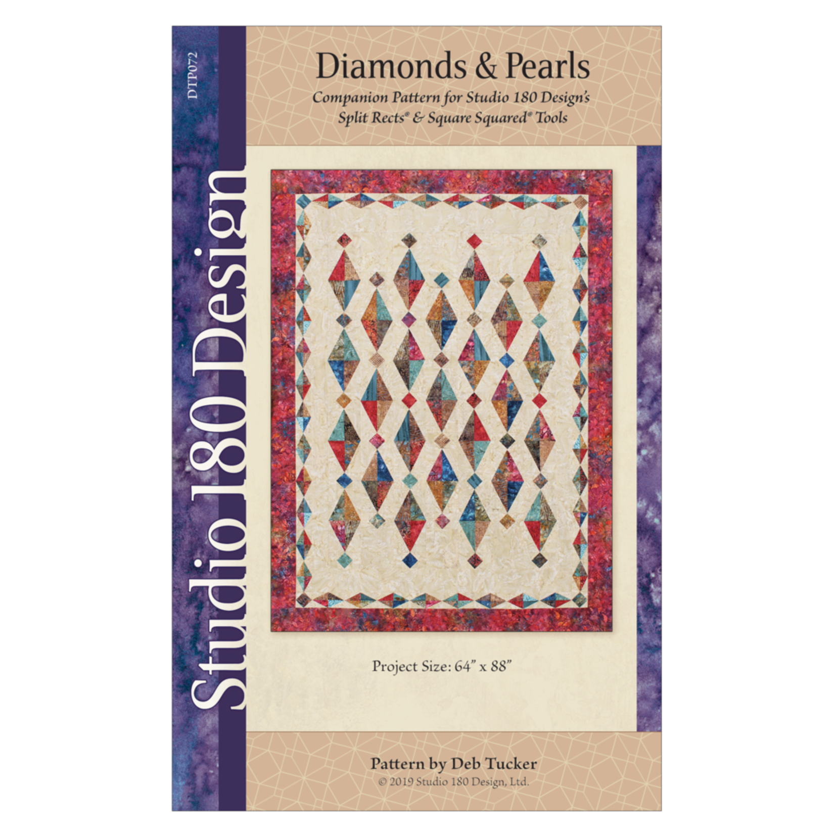 STUDIO 180 DESIGN DIAMONDS AND PEARLS PATTERN AND RULERS