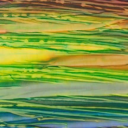 ROBERT KAUFMAN ARTISANS BATIKS, PATINA HAND PAINTS, BRIGHT, 20068-195 Per Cm or $20/m