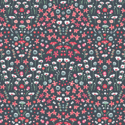ART GALLERY PICTURESQUE, PAINTED FIELD CERISE IN RAYON R-29454 $0.34/cm or $34/m
