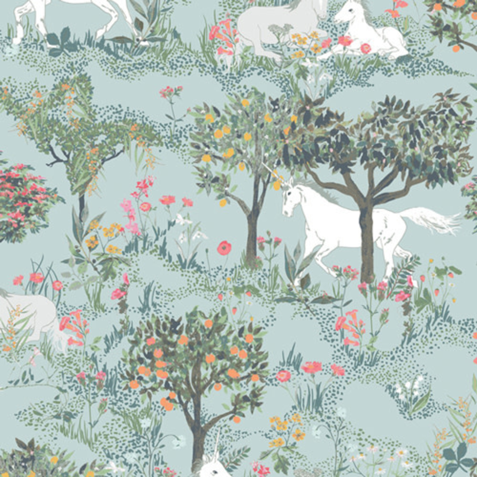 Art Gallery PICTURESQUE, MYTHICAL QUEST BY DAY IN RAYON R-39458 $0.34/cm or $34/m