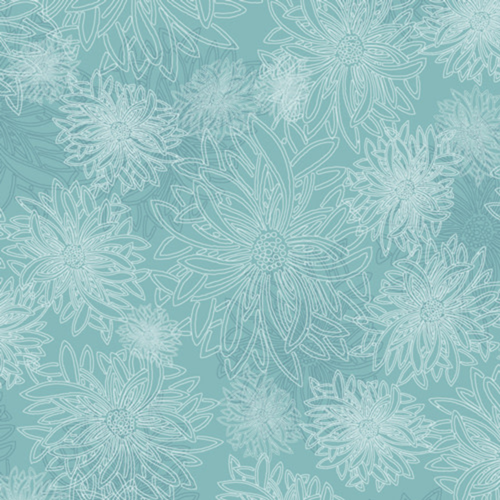 ART GALLERY FLORAL ELEMENTS, AQUA HAZE 508 $0.20/cm or $20/m