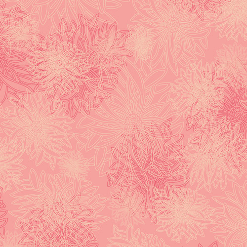 ART GALLERY FLORAL ELEMENTS, BLUSH 502$0.20/cm or $20/m