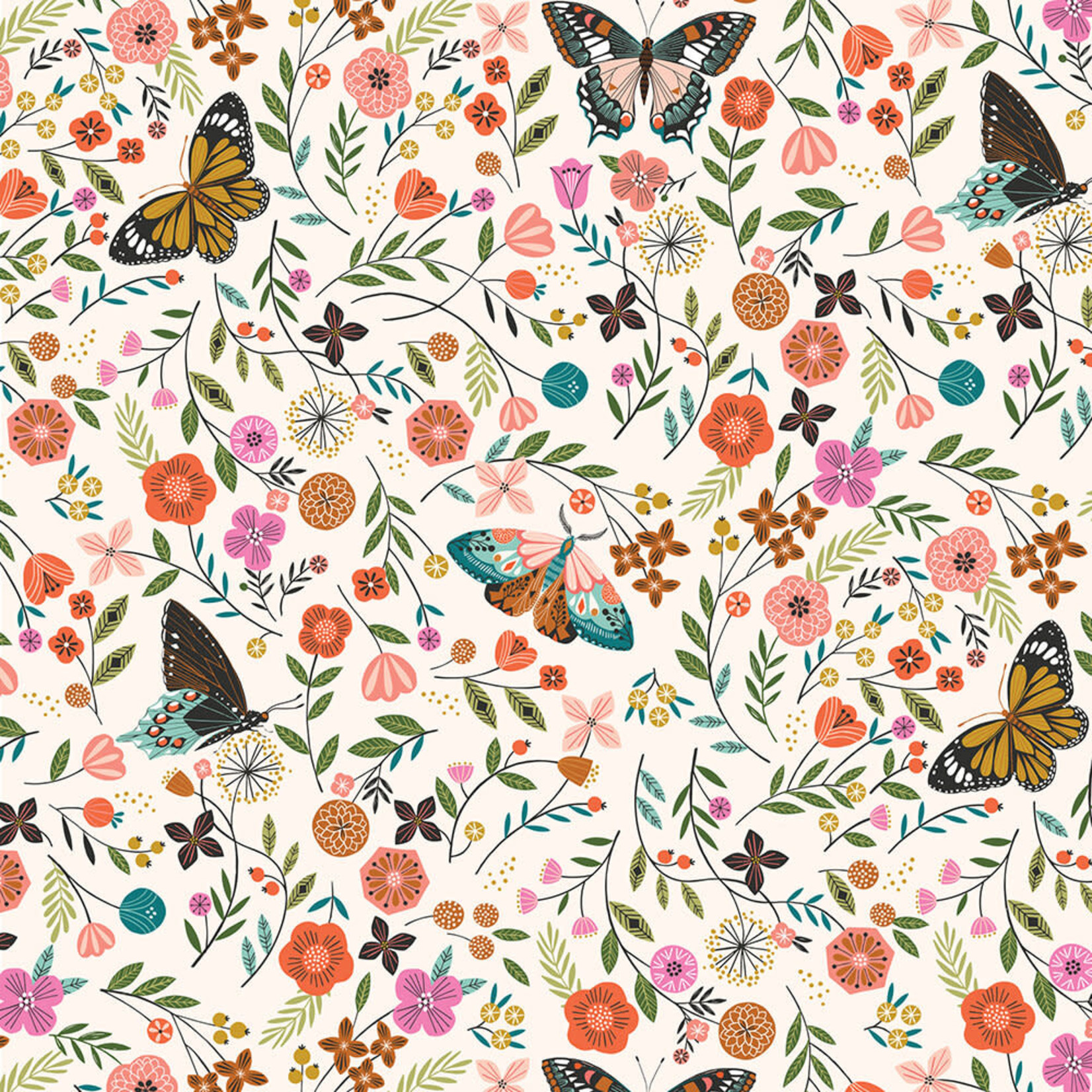 Dashwood Aviary, Butterflies and Flowers (1727), per cm or $20/m