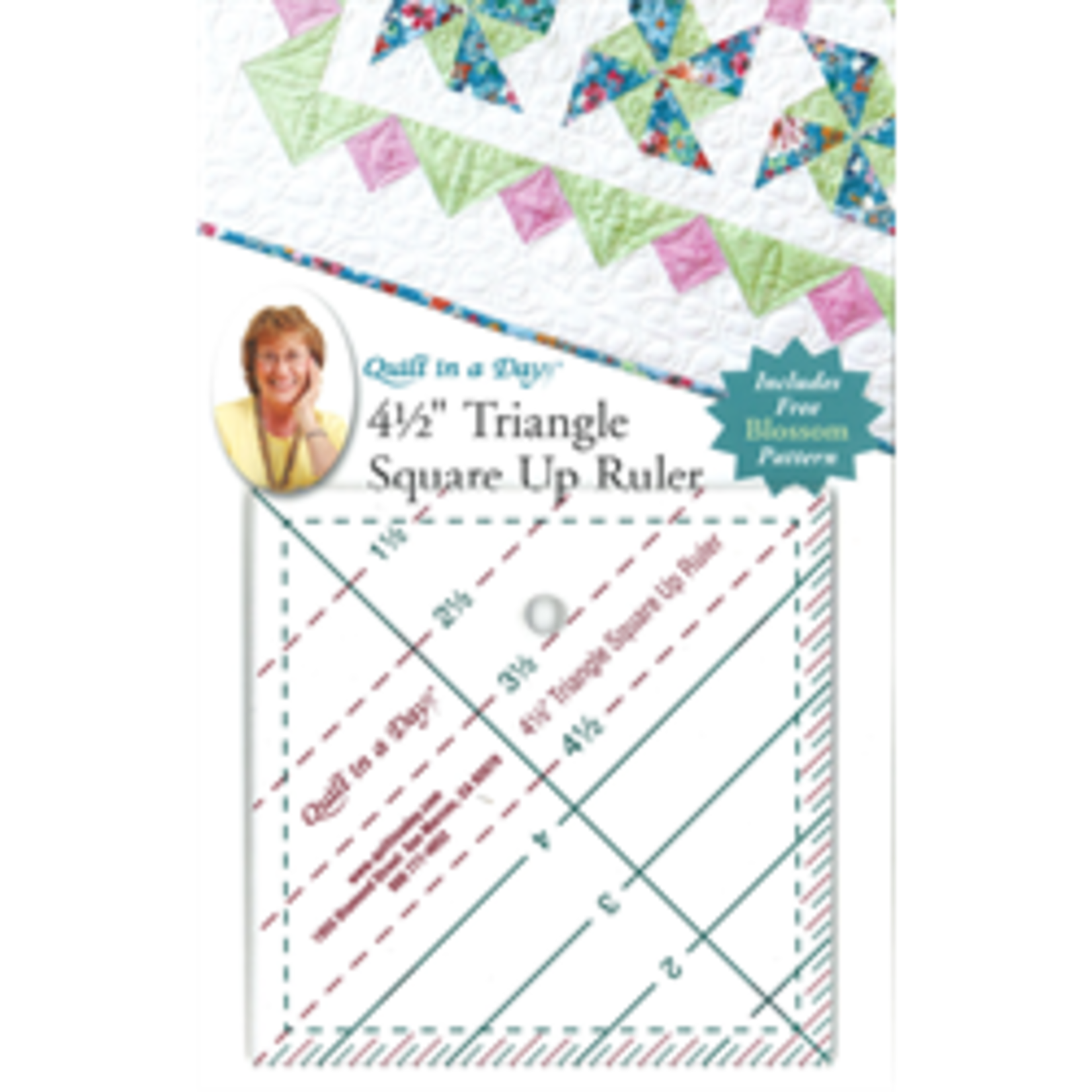 """Quilt In A Day 4 1/2"""" TRIANGLE SQUARE UP RULER"""
