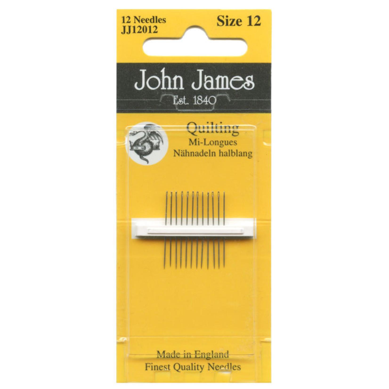 John James JOHN JAMES QUILTING NEEDLES SIZE 12
