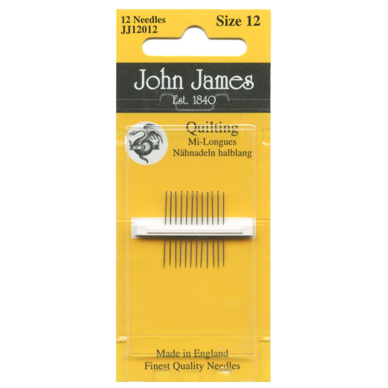 JOHN JAMES JOHN JAMES QUILTING NEEDLES SIZE 12