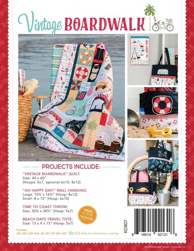 KIMBERBELL DESIGNS Vintage Boardwalk Book & Machine Embroidery CD