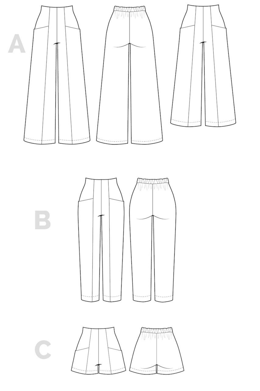 Closet Core Patterns Pietra Pants and Shorts Pattern 0-20