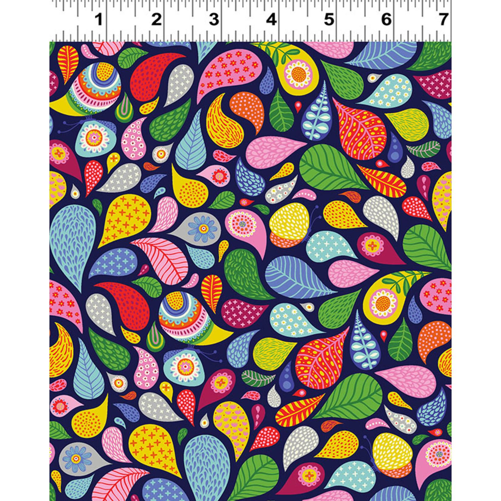 Clothworks FOREVER MAGIC, TEARDROPS ON PURPLE (3045-53) PER CM OR $20/M