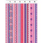 Clothworks FOREVER MAGIC, STRIPES, PINK (3046-42) PER CM OR $20/M