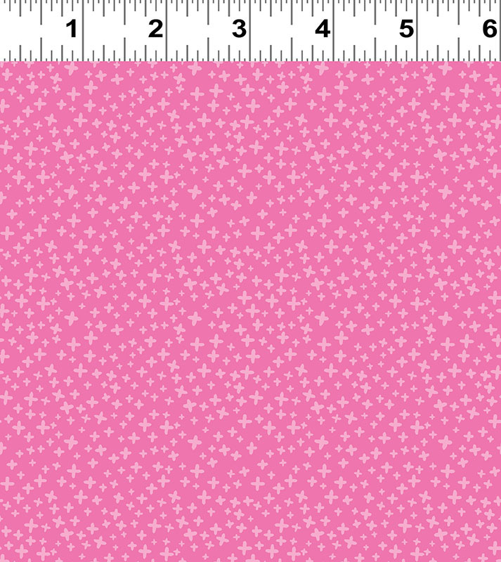 Clothworks FOREVER MAGIC, CROSSES, PINK ON PINK (3049-74) PER CM OR $20/M