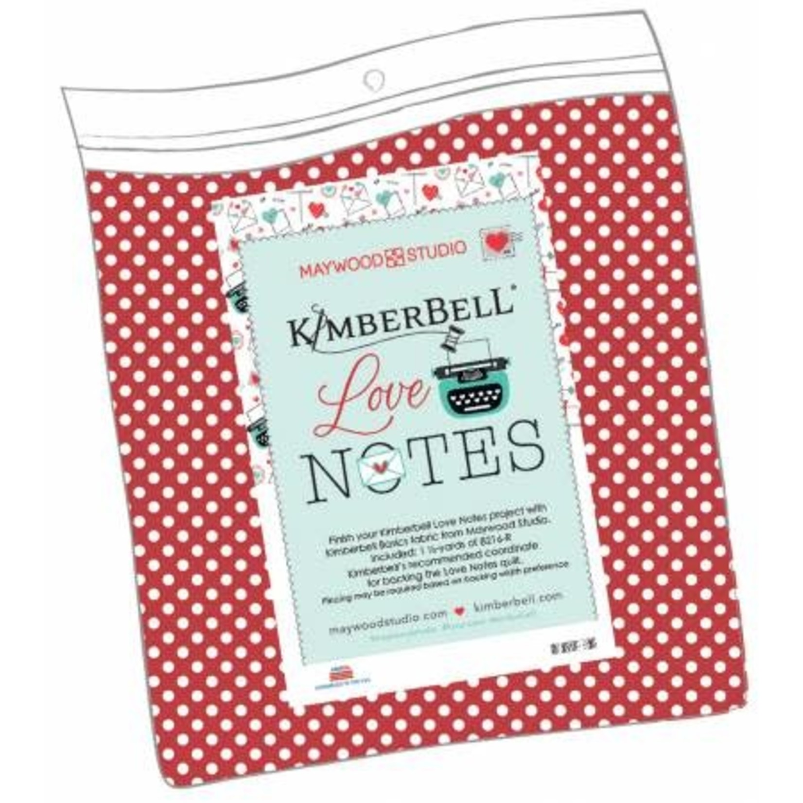 KIMBERBELL DESIGNS Love Notes Mystery Quilt - Backing Fabric