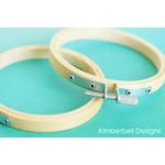 "Kimberbell Designs Bamboo Hoops Set of 2 3.5"""